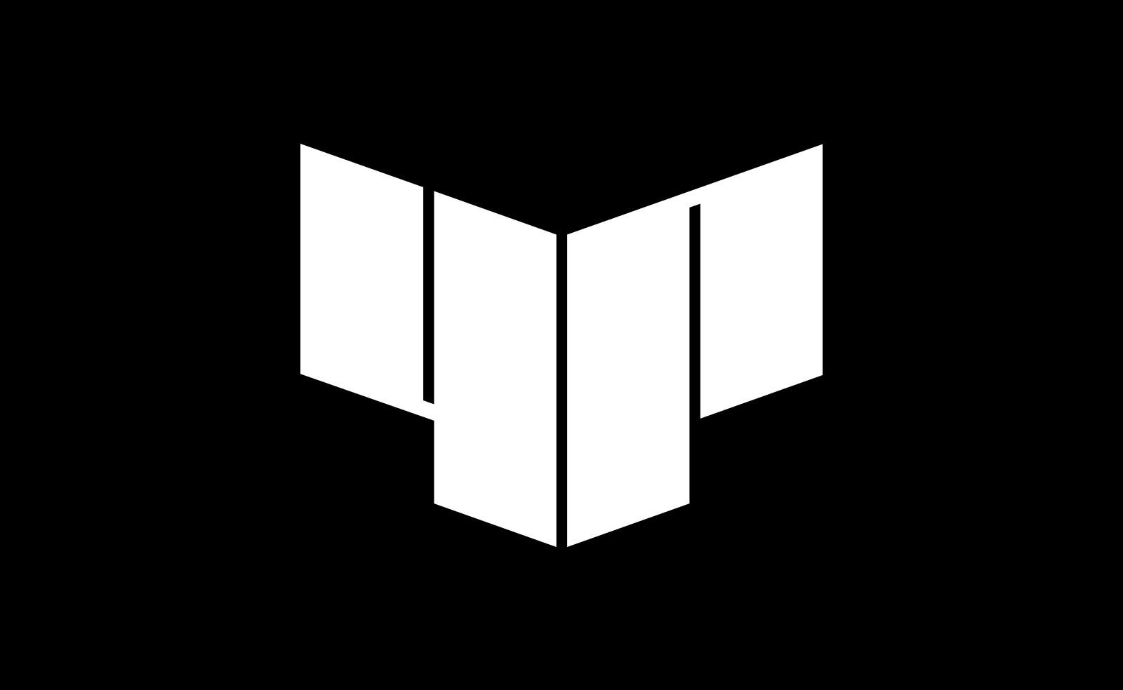 4P logotyp - vit logga mot svart bakgrund