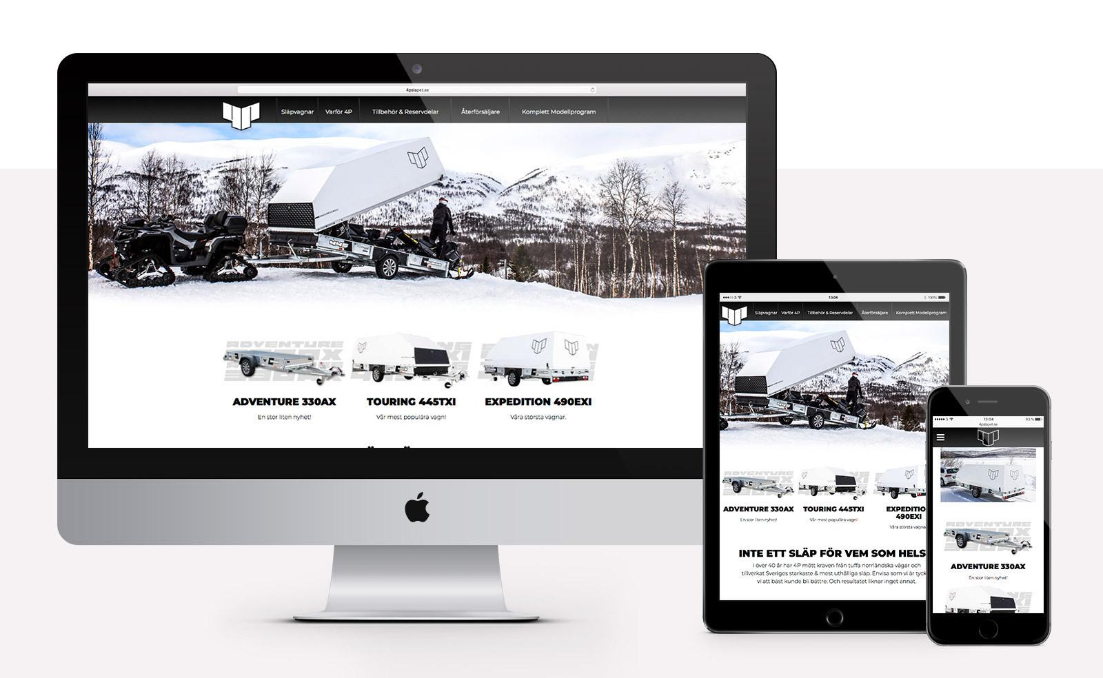 4P-släpet webbplats - Mac, iPad, iPhone
