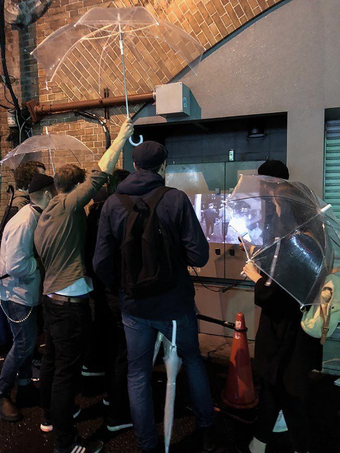Filmvisning utonhus i Tokyo
