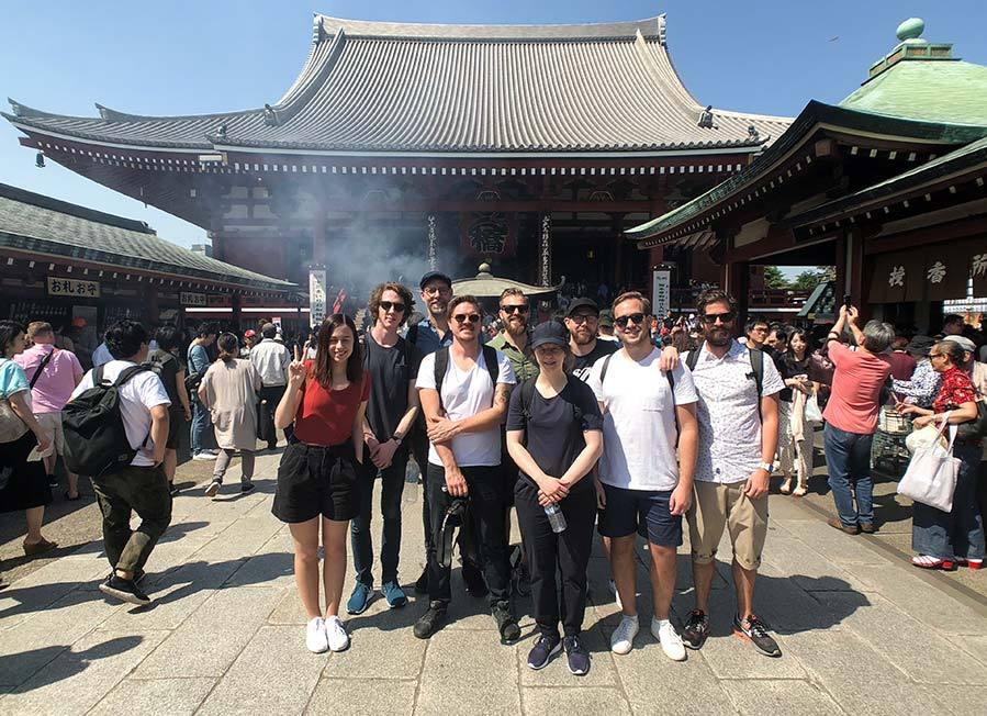 Sensoji templet - gruppbild