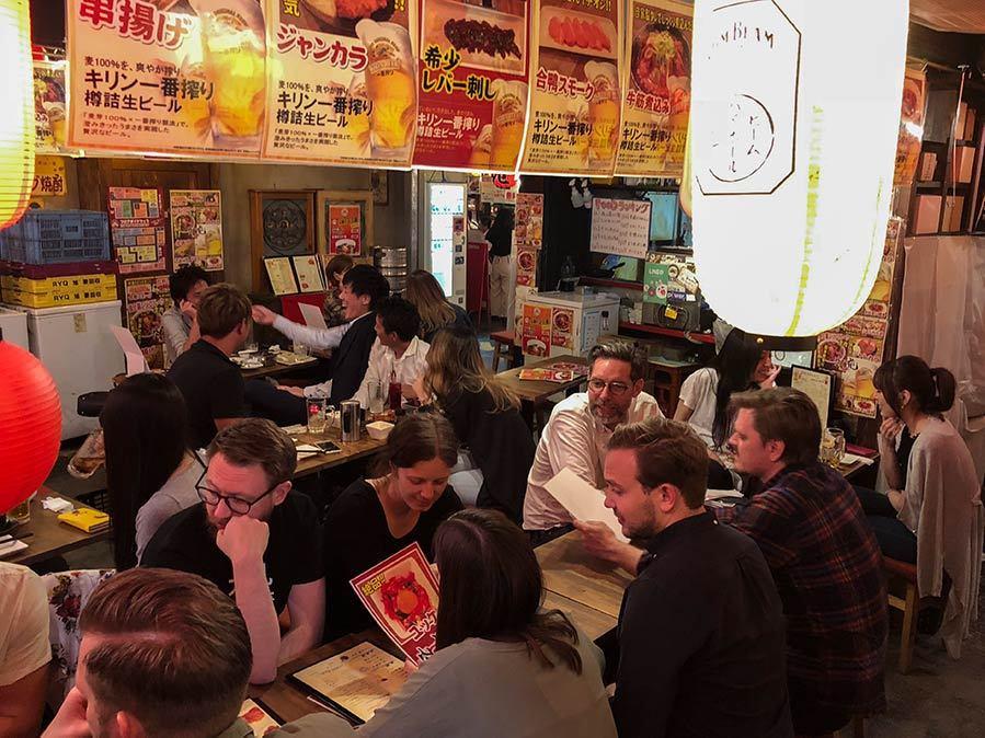 Yocochi i Shibuya mat och öl