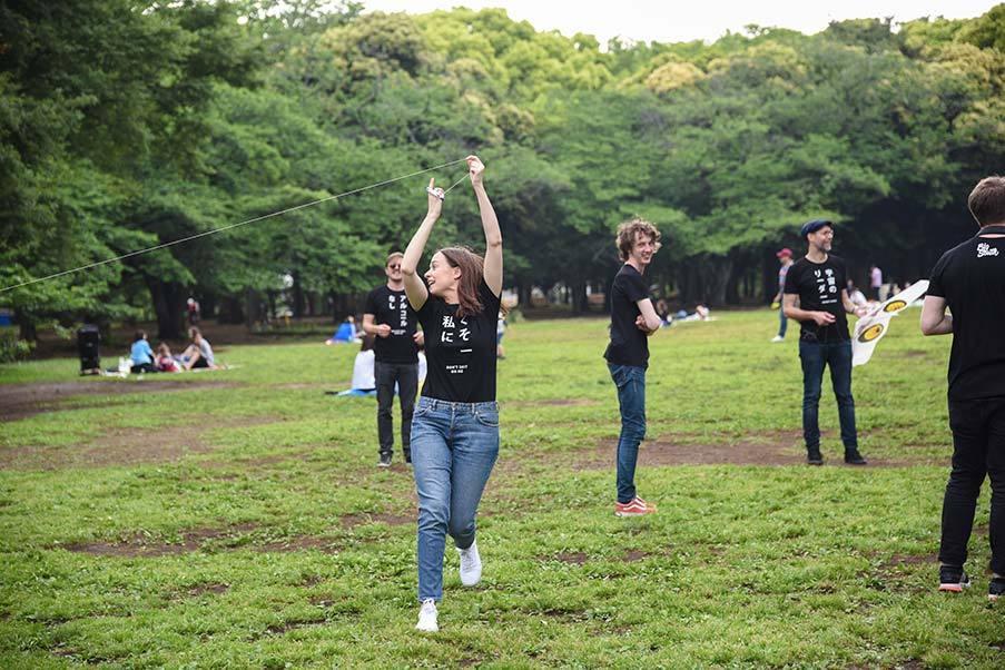 Drakflygning i Yoyogi-park