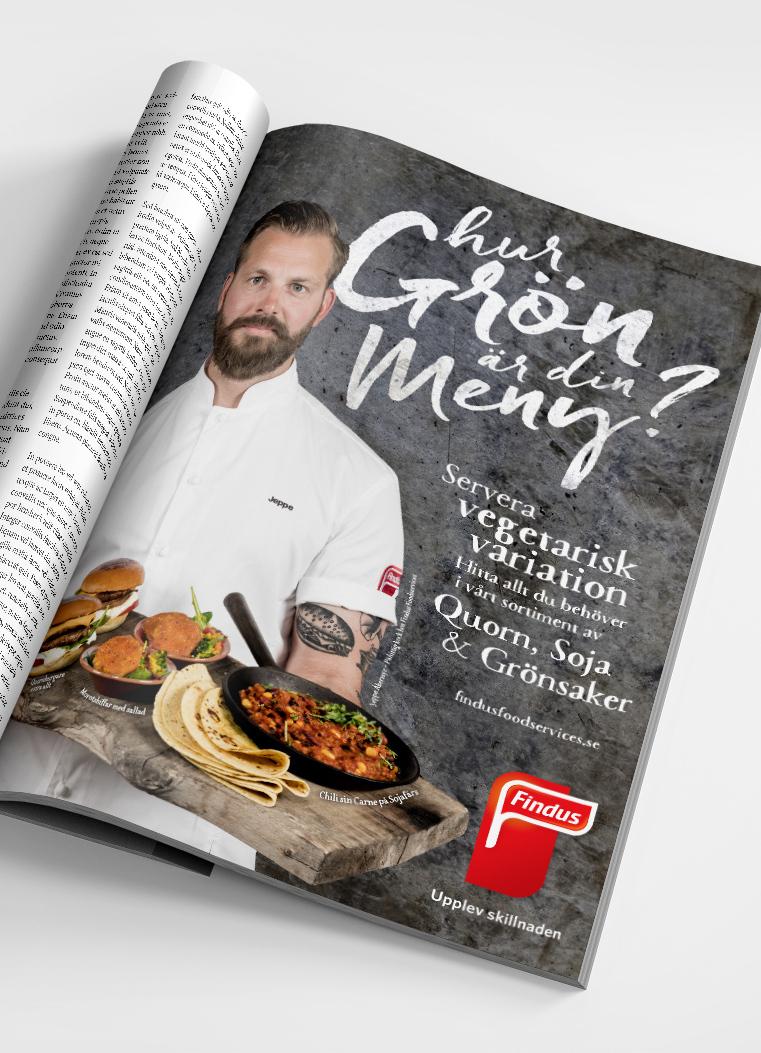Findus Foodservices vegetarisk satsning - hur grön är din meny? Printannons