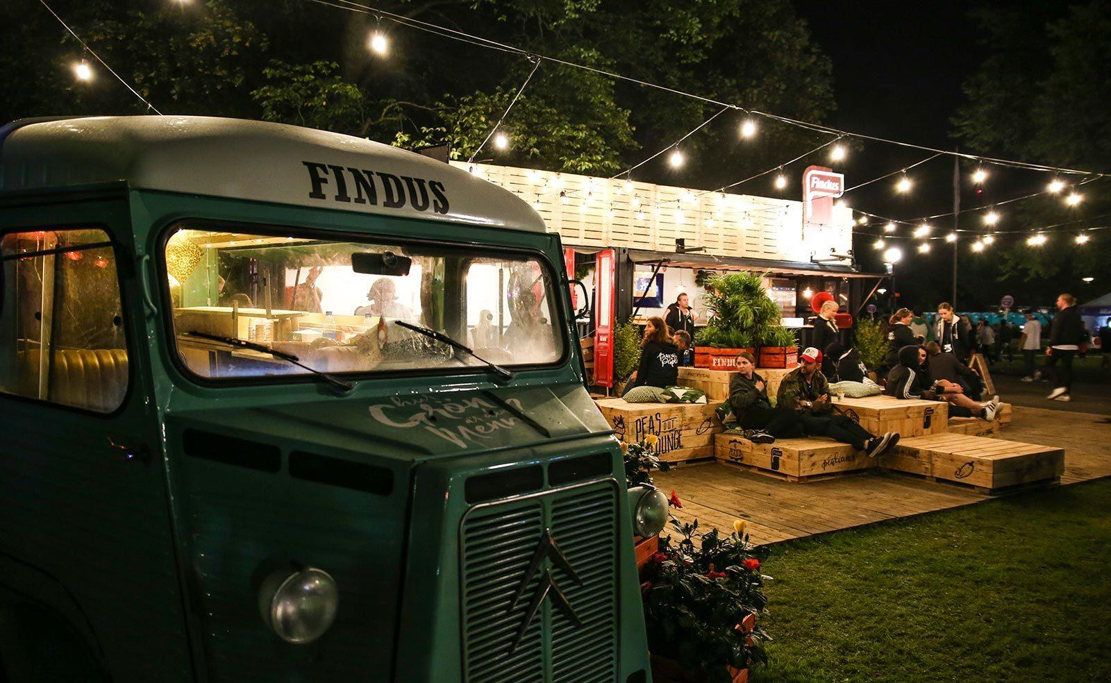 Findus - Way Out West - Foodtruck på natten