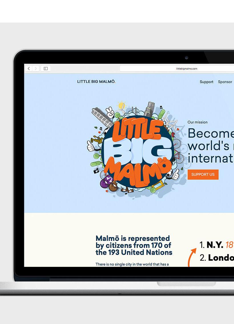 Little Big Malmö Webbplats ExpressionEngine