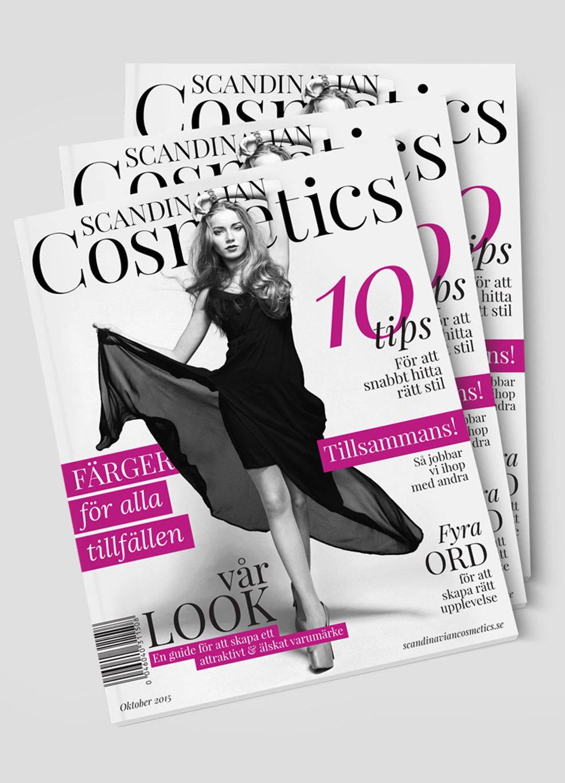 Scandinavian Cosmetics brand magazine