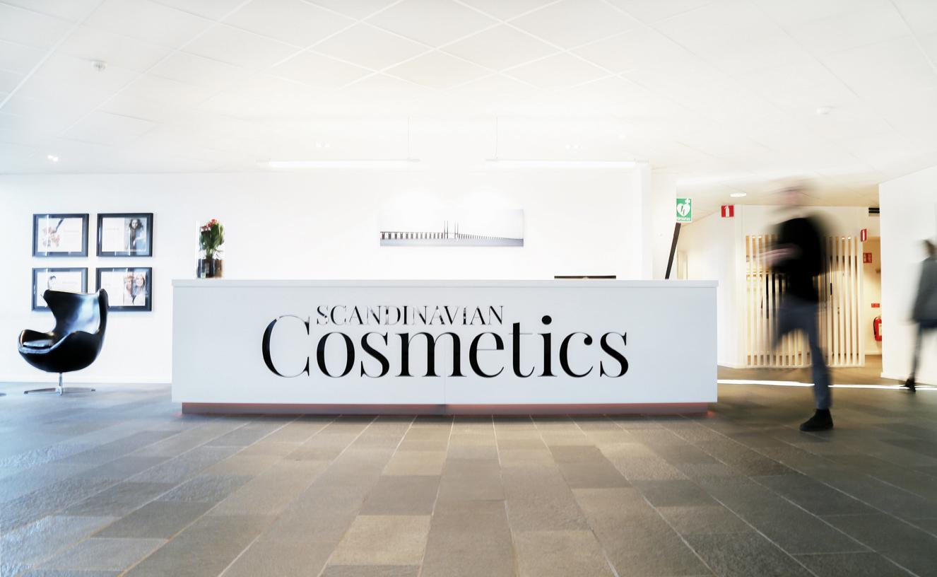 Scandinavian Cosmetics kontor entre och receptionsdisk