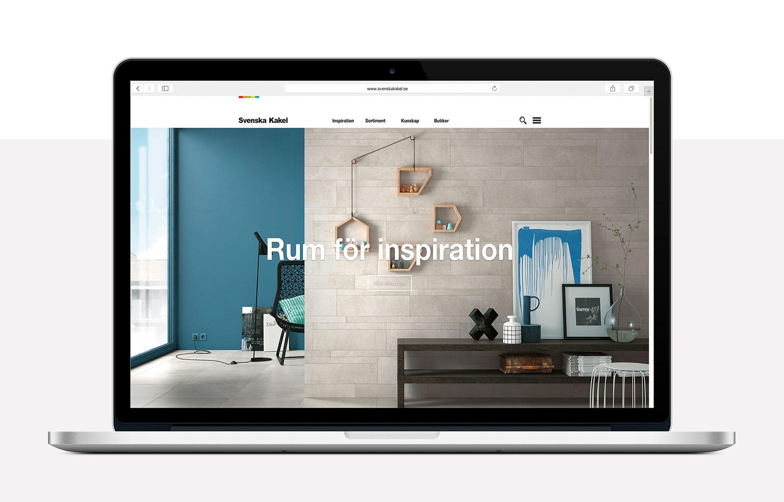 Svenska Kakel Webbplats byggd på ExpressionEngine