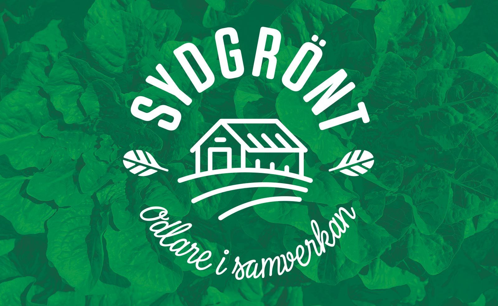 SydGrönt logotyp mot grön bakgrund