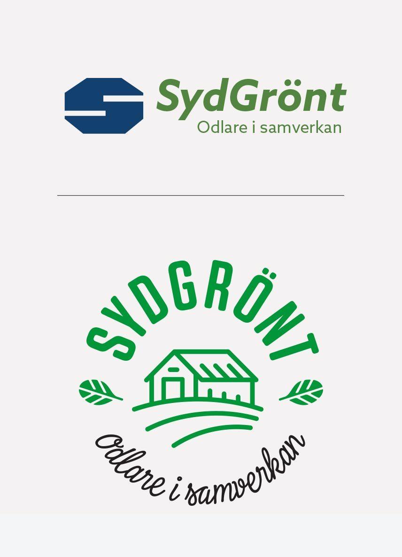 SydGrönt logotyp gammal och ny