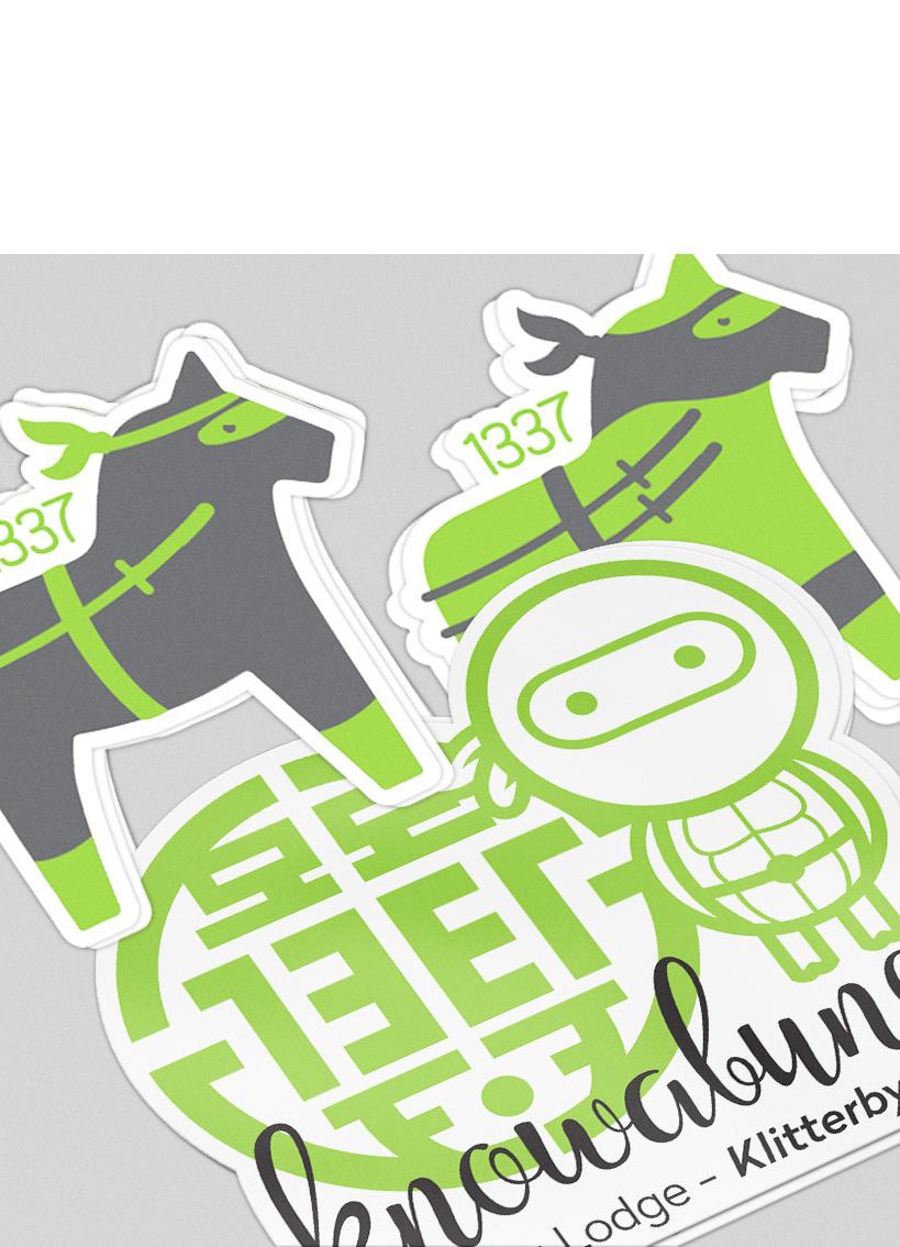 tretton37 varumärke stickers
