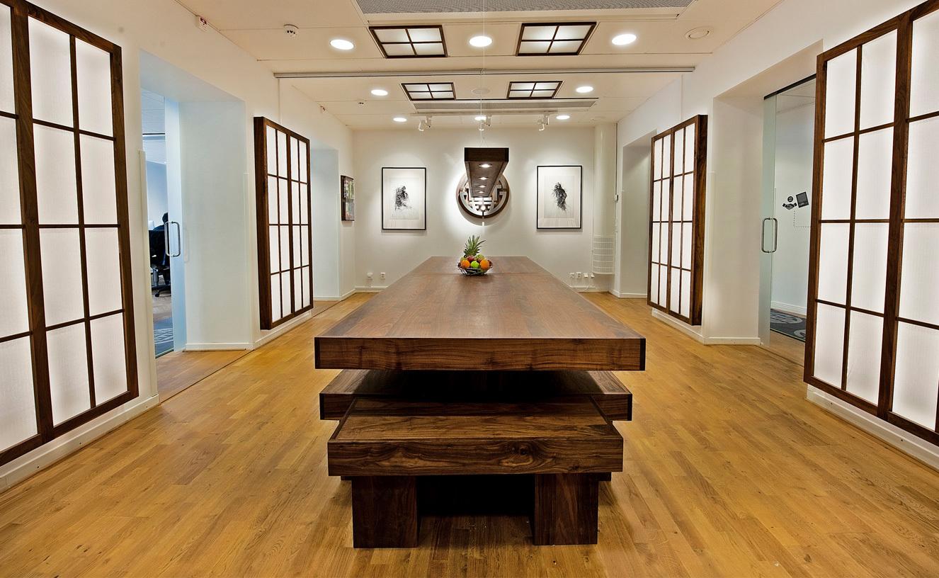 tretton37 kontorsdesign - matsal i japansk stil