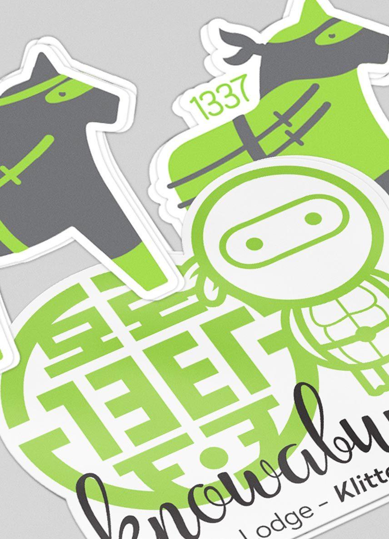 tretton37 varumärke olika stickers